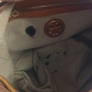 Tory Burch Bags - Tory Burch gold coated patent leather studded hobo